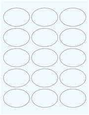 """Clear Glossy Labels - 2.5 x 1.7"""" Oval (G 6)"""