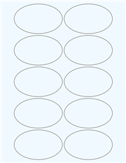 "Clear Glossy Labels - 3.2 x 2.0"" Oval (H 3)"