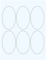 "Clear Glossy Labels - 2.5 x 4.2"" Oval (G 7)"