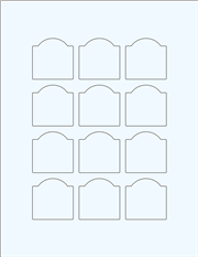 """Clear Glossy Labels - 1.75 x 1.75"""" Arched (F 6)"""