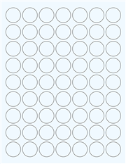 """Clear Glossy Labels - 1"""" Circle (F 2)"""