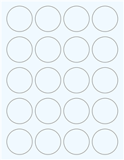 """Clear Glossy Labels - 1.75"""" Circle (F 8)"""