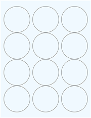 "Clear Glossy Labels - 2.5"" Circle (G 8)"