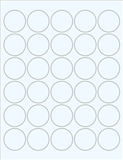 "Clear Glossy Labels - 1.5"" Circle (F 4)"
