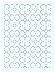 """Clear Glossy Labels - 0.75"""" Circle (F 1)"""