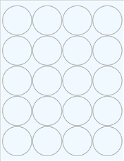 """Clear Glossy Labels - 2"""" Circle (F 11)"""