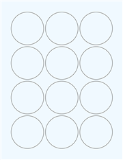 """Clear Glossy Labels - 2.25"""" Circle (G 5)"""