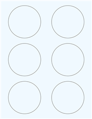 "Clear Glossy Labels - 3"" Circle (G 12)"