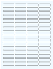 """Clear Glossy Labels - 1.8 x 0.5"""" Rectangle (F 9)"""