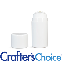 01.7 oz White Airless Bottle w/ White Pump Set
