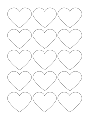"""White Glossy Labels - 2.2 x 1.8"""" Heart (L 3)"""