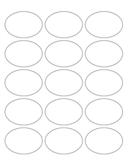 """White Glossy Labels - 2.5 x 1.7"""" Oval (L 6)"""