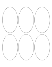 """White Glossy Labels - 2.5 x 4.2"""" Oval (L 7)"""