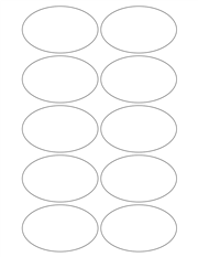 "White Glossy Labels - 3.2 x 2.0"" Oval (M 3)"
