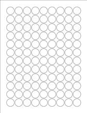 "White Glossy Labels - 0.75"" Circle (K 1)"