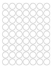 "White Glossy Labels - 1"" Circle (K 2)"