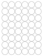 "White Glossy Labels - 1.25"" Circle (K 3)"
