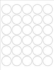"White Glossy Labels - 1.5"" Circle (K 4)"