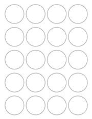 "White Glossy Labels - 1.75"" Circle (K 8)"