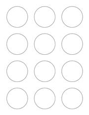 "White Glossy Labels - 2"" Circle (K 11)"