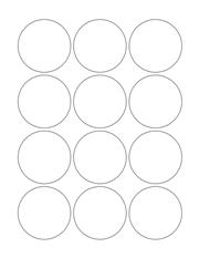 "White Glossy Labels - 2.25"" Circle (L 5)"