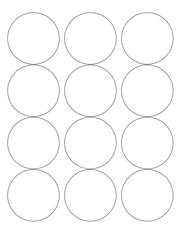"White Glossy Labels - 2.5"" Circle (L 8)"