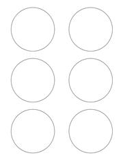 "White Glossy Labels - 3"" Circle (L 12)"
