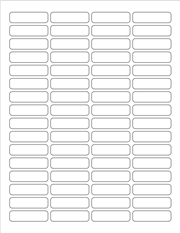 """White Glossy Labels - 1.8 x 0.5"""" Rectangle (K 9)"""