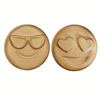 Heart Eyes & Joe Cool Emoji Soap Mold (MW 521)