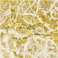 White & Gold Crinkle Paper