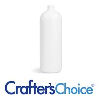 32 oz White HDPE Bullet Bottle - 28/410