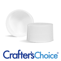 28/410 White Ribbed Basic Top Cap - F217 Liner