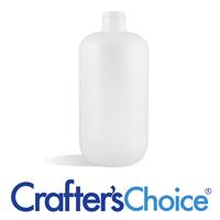 12 oz White HDPE Boston Round Bottle - 24/410