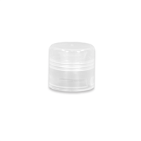 Cap for Lip Tube - Clear, Round