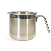 Pot - 8 Cup, Metal Stainless Steel