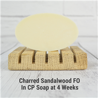 Charred Sandalwood FO in CP Soap