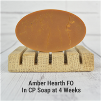 Amber Hearth FO in CP Soap