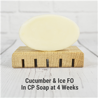 Cucumber & Ice FO in Cold Process Soap