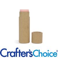 0.3 oz Kraft Paperboard Lip Tube & Cap Set - Push