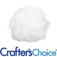 Premium Nylon Puff - Small, White