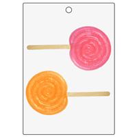 Swirl Lollipop Bubble Stick Mold (LOP 60)