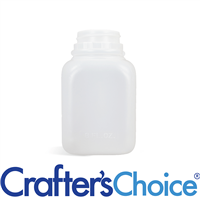 08 oz Natural HDPE Square Bottle - 38/400