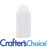 12 oz Natural HDPE Square Bottle - 38/400