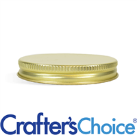 58/400 Gold Metal Basic Top Cap - Foam Liner