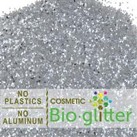Bio-Glitter (Aluminum Free) - .040 Hex, Silver