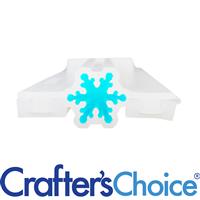 Snowflake Mini Column Silicone Soap Mold 2032