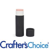 0.3 oz Black Paperboard Lip Tube & Cap Set - Push