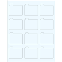 "Clear Glossy Labels - 2.1 x 2.1"" Tamper Evident Li"