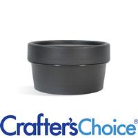 1.7 oz Black Plastic Pot & Lid Set