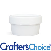 1.7 oz White Plastic Pot & Lid Set